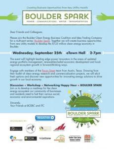 Discussion + Workshop + Networking Happy Hour = Boulder Spark