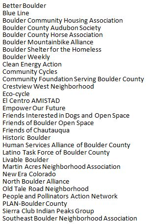 2015 participating orgs