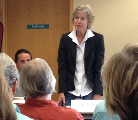 Candidate Cindy Carlisle at a recent candidate forum