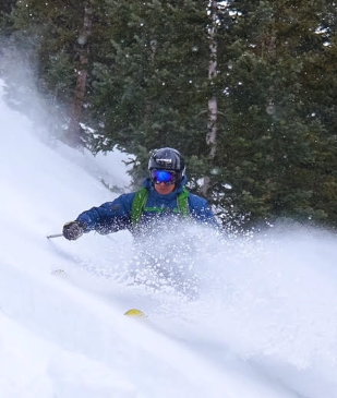 Council candidate Michael Kruteck is pictured backcountry skiing in Colorado's Elk Mountains. (Photo courtesy of Michael Kruteck)