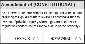 Colorado State Measures: Proposition 112 vs. Amendment 74