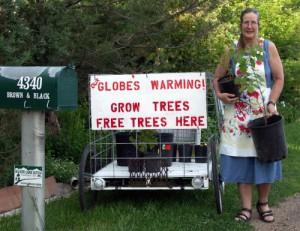 Free Trees to Combat Global Warming
