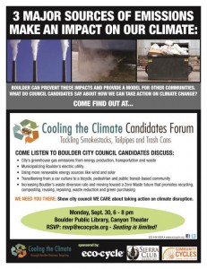 Cooling the Climate Candidates Forum:  Tackling Smokestacks, Tailpipes and Trash Cans